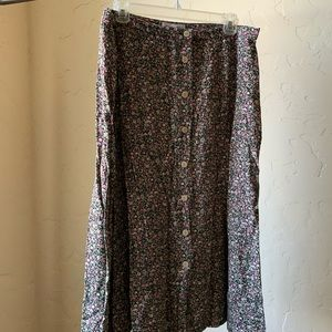 Christopher & Banks Skirts - Micro florals Christopher and Banks midi skirt